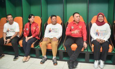 Kapolres dan Bupati Bogor Terima Kunjungan Ketum PSSI di Stadion Pakansari