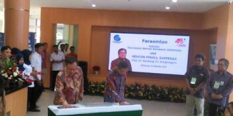 Menteri PPN Resmikan Gedung Pelayanan Terpadu Informasi Geospasial