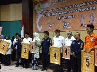 Pengundian Sekaligus Penetapan Nomor Urut Ke 5 Paslon Bupati dan Wabup Kabupaten Bogor 2018