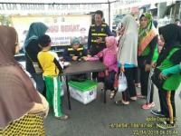 Tim Kesehatan Polresta Bogor Kota Giat Minggu Sehat di Area Car Free Day Kota Bogor