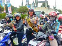 Aksi Atraktif dan Edukatif Polantas Polres Bogor, Jelang Peringatan HUT Polantas ke-63