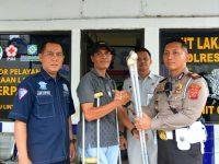 Sat Lantas Polres Bogor Bantu Penyandang Disabilitas Korban Laka Lantas