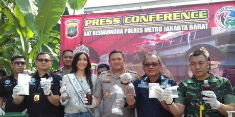 Sat Res Narkoba Polres Metro Jakarta Barat Ungkap Kasus Pabrik Ekstasi Rumahan di Bogor