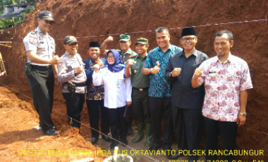 Kapolsek Rancabungur Menghadiri Peletakan Batu Pertama Pembangunan Kantor Koramil 2115/Kemang