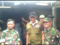 Koramil 2120/Ciomas Kodim 0621/Kab. Bogor Korem 061/SK Bantu Evakuasi Korban Longsor