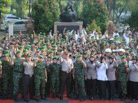 Apel Kesiapsiagaan TNI-POLRI Antisipasi Situasi Kontijensi Wilayah Kabupaten Bogor