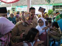 Pencanangan Kampanye dan Introduksi MR di Puskesmas Tajurhalang