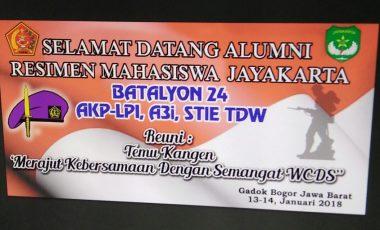 Alumni Menwa Yon 24 Jayakarta Reuni di Gadog Bogor