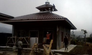 Pembangunan Kembali Masjid Al-Iklas Oleh TNI, Kodim 0621/Kabupaten Bogor Hampir Rampung