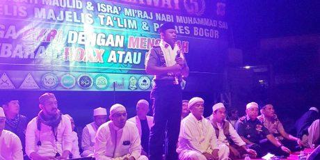 Kapolres Bogor Hadiri Tabligh Akbar di Ciawi Bogor