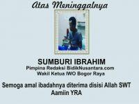 Sumburi Ibrahim Wafat, Jurnalis Bogor Berduka