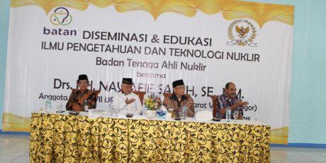Diseminasi dan Edukasi Iptek Nuklir, BATAN dan Komisi VII DPR RI Giatkan Sosialisasi