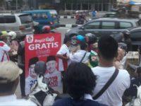 Jalin Silaturahmi Bacaleg PAC Gerindra Asyik Bagi-bagi Takjil