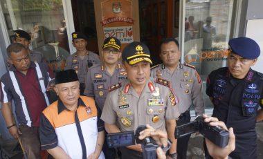 Kapolresta Bogor Kota Dampingi Kapolda Jabar Saat Melakukan Kunjungan ke Kantor KPU Kota Bogor