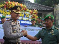 Kodim 0621/Kabupaten Bogor Beri Kejutan Buat Polres Bogor Saat RayakanHUTKe 72 Bhayangkara