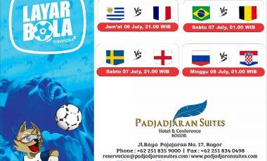 Bagi Kamu Penggila Bola, Mari Nobar Perempat Final Piala Dunia 2018 di Padjadjaran Suites Hotel Kota Bogor
