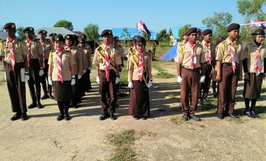 Satgas YONIF 315/Garuda dan UNMUS Gelar Lomba Baris Berbaris Tingkat SMA Se-Kabupaten Merauke