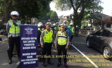 Operasi Dakgar Lantas di Wilayah Hukum Polresta Bogor Kota