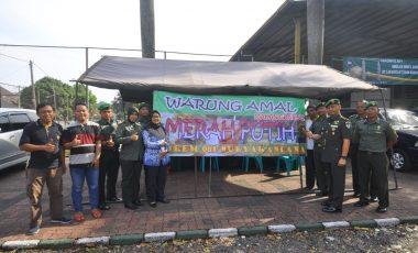 Korem 061 Suryakancana Bogor Buka Warung Makan Gratis di Warung Amal Merah Putih