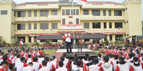 Danrem 061/Sk Sampaikan Wasbang Dihadapan 189 Peserta Festival Merah Putih