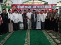 Satgas Nusantara Polres Bogor Sholat Subuh Berjamaah di Masjid Miftahul Huda Rancabungur