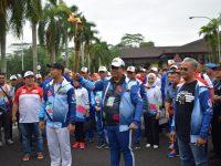 Wakil Jaksa Agung RI Ikut Bawa Obor Asian Para Games 2018 di Kota Pontianak