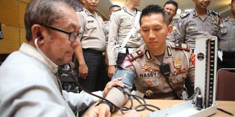 Sat Lantas Polres Bogor Sumbangkan Darah, Dalam Rangka HUT Polantas ke-63