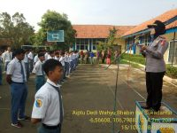 PJU Polsek Tanah Sareal Berikan Penyuluhan Kepada 450 Pelajar SMKN 1 Bogor