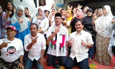 Caleg Lukman dan Edward Silaturahmi Warga Bogor Sambil Doa Milad Capres Prabowo
