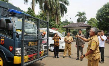 Polres Bogor Terima Bantuan Dua Unit Truk Kendaraan Dinas Dalmas Dari Pemkab Bogor