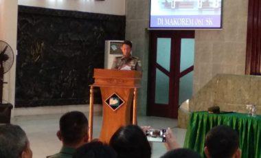 Prajurit dan ASN Korem 061/Sk Ikuti Penyuluhan Hukum dan Sosialisasi Netralitas TNI