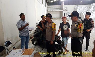Wakapolres Bogor Tinjau Gudang KPUD Pastikan Keamanan Logistik Pemilu 2019