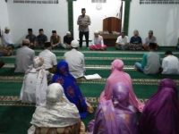 Himbauan Kamtibmas Kapolsek Dramaga Digiat Tarling di Masjid Jami Miftahul Huda