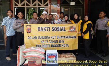 Giat Baksos Polsek Bobar Polresta Bogor Kota dan Ucapan Selamat HUT ke 73 Bhayangkara Dari Sejumlah Tokoh Agama