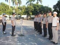 Upacara Korps Raport Kenaikan Pangkat Anggota Polri dan ASN Polres Bogor