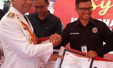 Gibson Anggota IWO, Juara 1 di Ajang Lomba Jurnalistik HUT Bhayangkara ke 73
