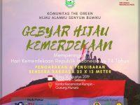 Gebyar Hijau Kemerdekaan, The Green Siapkan Aksi Pengarakan dan Pengibaran Bendera Raksasa di Puncak Gunung Munara
