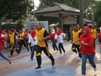 Sambut HUT ke 74 RI, Polres Bogor Gelar Bermacam Lomba Permainan Rakyat