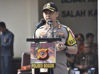 Kapolres Bogor Pimpin Apel Gelar Pasukan Operasi Praja Lembur Tegar 2019