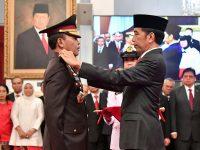 Presiden Joko Widodo Lantik Idham Aziz sebagai Kapolri