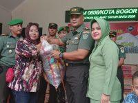 Bentuk Empatinya, Dandim 0606/Kota Bogor Berikan Bantuan Untuk Korban Banjir
