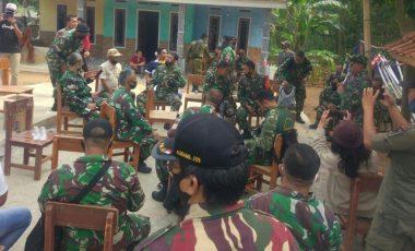 Prajurit Kodim 0621/Kabupaten Bogor Lakukan Peninjauan Medan Lokasi TMMD ke-109