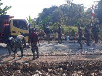 TMMD ke 112, Dandim 0621/Kab.Bogor Segerakan Pembangunan Jalan Desa Bojong Klapanunggal