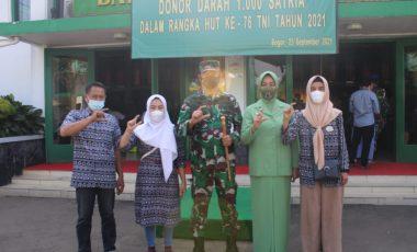 Peringati HUT TNI ke 76, Korem 061/SK Gelar Aksi Donor Darah
