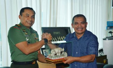 Silaturahmi Danrem 061/Suryakancana dengan Pimpinan Media Radar Bogor