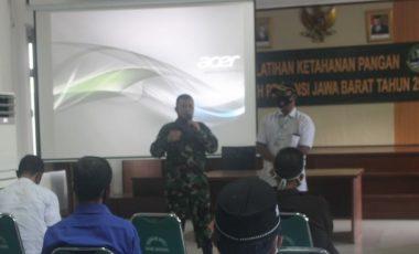 Kodim 0621/Kab.Bogor Selenggarakan Kegiatan Pelatihan Ketahanan Pangan Wilayah Provinsi Jabar Tahun 2021