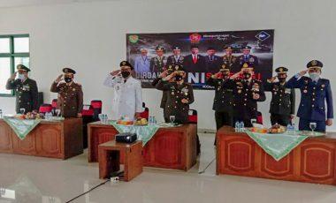 Dandim 0621/Kabupaten Bogor Ikuti Upacara Peringatan HUT ke-75 TNI Secara Virtual