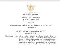 Peraturan Bupati Bogor tentang Pilkades 2019