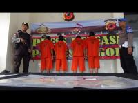 Sat Reskrim Polres Bogor Tangkap Pelaku Curat dan 3 Orang Penadah
