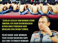 Kapolres Bogor: Pelaku Aksi Tawuran Akan Ditintak Tegas Secara Hukum